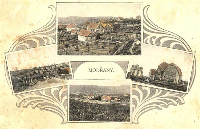 Modrany in the years 1930